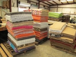 carpet ready for binding