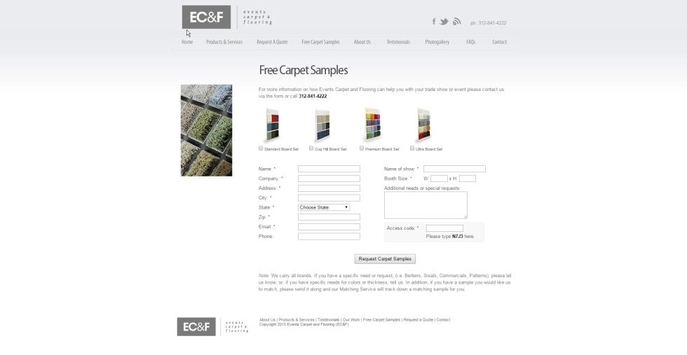 get free carpet samples